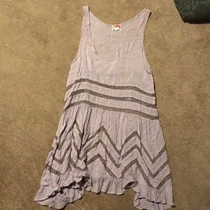 Free People Voile & Lace Trapeze Slip Dres